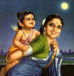 Maa Kausalya and Sri Ram Krishna Leela, Baby Krishna, Cute Krishna, Radha Krishna Love, Lord Sri Rama, Yashoda Krishna, Radhe Krishna, Indiana, Lord Rama Images