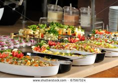 food display | Catering food at a wedding party - a series of RESTAURANT images ...