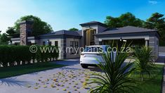 4 Bedroom House Plan - My Building Plans South Africa 4 Bedroom House Plans, My House Plans, My Building, Building Plans, Front Verandah, Open Plan, South Africa, House Design, How To Plan
