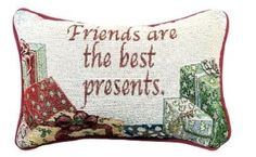 Manual 125 x 85Inch Decorative Throw Pillow Friends Are the Best Presents -- Read more  at the image link.