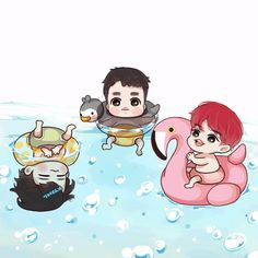 Animated gif shared by 「k e l l y」. Find images and videos about cute, gif and exo on We Heart It - the app to get lost in what you love. Baekhyun, Exo Kokobop, Kpop Exo, Exo Anime, Anime Chibi, K Pop, Exo Cartoon, Cartoon Characters, Exo Red Velvet