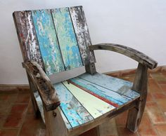 Casa E - Bali garden chair made from reclaimed boat wood
