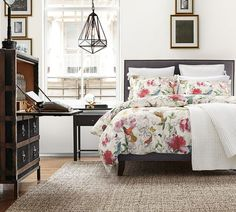 Fillmore Square Upholstered Bed & Headboard