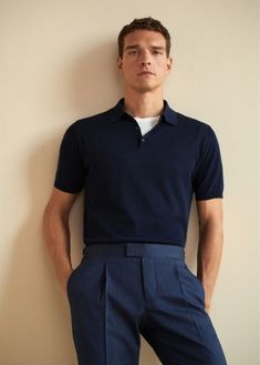 dressy mens fashion which looks amazing 33927 Stylish Mens Fashion, Big Men Fashion, Fashion Moda, Men Looks, Streetwear, Polo Shirt Outfits, Le Polo, Mein Style, Camisa Polo