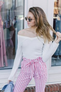 Grayson Off The Shoulder Sweater Top