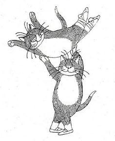 ballet cats by Edward Gorey