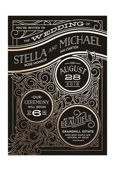 @minted's #artdeco wedding invitation is so #Gatsby   Brides.com #weddinginvitation