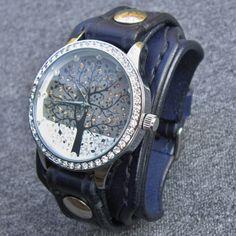 Jewellery, Watches, Wrist Watches, Women's Wrist Watches, ladies watch, woman watch, vintage watch, leather watch, wrist watch woman, wristwatch, leather bracelet, watch, women's watch, watch for women, navy blue, blue leather, navy watch