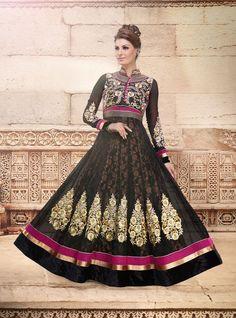 Fabric :- Net #Anarkali style #Gown