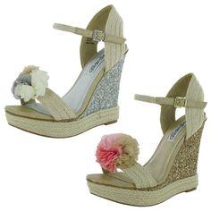 Naughty Monkey Womens Sprinkle Wedge Sandal Shoe #NaughtyMonkey #PlatformsWedges