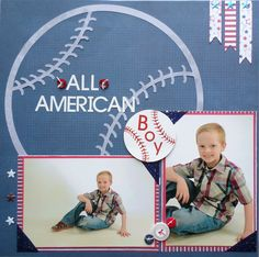 All American boy layout by Muse Leslie