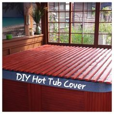 Hot tub cover provides you an ultimate relaxing time while enjoying the natural surrounding in your backyard. Find some amazing hot tub enclosure ideas here! Outdoor Spa, Outdoor Living, Outdoor Decor, Outdoor Life, Outdoor Furniture, Jacuzzi Covers, Piscina Diy, Whirlpool Deck, Hot Tub Time Machine