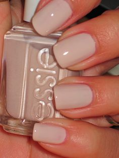 "Essie Color...""pound cake."" Truly a YUMMY color. Soft and neutral."