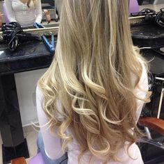 blonde hair curled