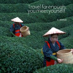 Travel far enough, you meet yourself. D. Mitchell