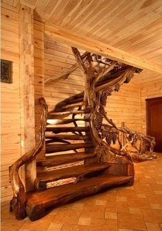 Винтовые лестницы деревянные - Резная мебель Хуст (Украина) - купить, цена, фото: