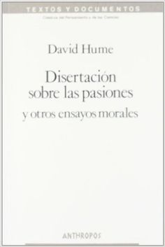 disertacion sobre las pasiones y otros ensayos morales - GE 170 H921