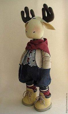 Vita a LiveInternet - Orosz Service Online naplója Gift Shop Displays, Diy Rag Dolls, Moose Toys, Doll Sewing Patterns, Cute Stuffed Animals, Christmas Sewing, Christmas Makes, Boy Doll, Fabric Dolls