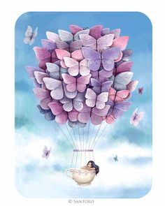 Santoro's Eclectic Cards - Butterfly Balloon
