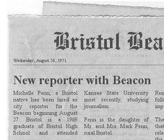 Michelle's job is big news in the Bristol Beacon.