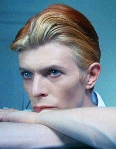 """David Bowie as Thomas Jerome Newton, """"The man who fell to Earth"""", 1976 - did any of you see this film? It was much anticipated when the '63 book had been such a cult hit with the youth culture."""