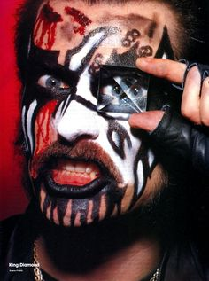 King Diamond Heavy Metal Rock, Power Metal, Heavy Metal Bands, Black Metal, King Diamond, Diamond Eyes, Diamond Bands, Demonic Signs, Hard Rock