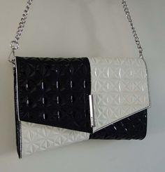 Stylish black&white handbag/clutch by Nine West