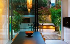 #indoor #outdoor #garden #modern #clean #lines #inside #outside #landscaping Fulham project Mylandscapes Garden Design, photo Clive Nichols
