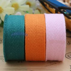 Cotton-Ribbon-Strap-Binding-Bias-Tape-Sewing-Craft-Trimmings-20mm-Wide18-Color