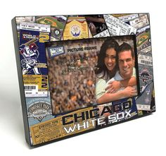 Chicago White Sox Ticket Collage Wooden 4x6 inch Picture Frame - Officially Licensed by MLB