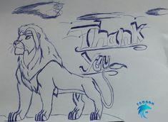 the lion says thank you My Drawings, Lion, Art, Leo, Craft Art, Lions, Kunst, Gcse Art, Art Education Resources