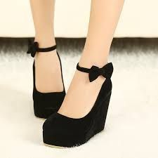 Sweet bowknot shoes,Women's sexy wedge heel shoes,bowknot shoes,fashion shoes from Bling Bling. Fancy Shoes, Pretty Shoes, Me Too Shoes, Kd Shoes, Shoes 2017, Shoes Style, Golf Shoes, Converse Shoes, Black Heels
