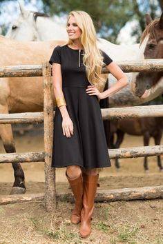 Classic Black Kayla Dress from the Timbers and Twine Collection by Shabby Apple