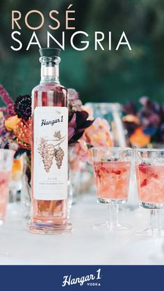 An interesting summer spin to the classic sangria using Hangar One Rosé Vodka. Visit Hangar One to get the recipe. Refreshing Drinks, Fun Drinks, Yummy Drinks, Alcoholic Drinks, Beverages, Sangria Recipes, Cocktail Recipes, Summer Cocktails, Cocktail Drinks