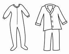 pajama theme coloring pages - photo#8