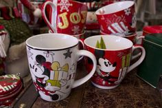 Mickey and Minnie Mouse Christmas tea mugs. Now at Louisville Tea Company