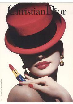 Christian Dior makeup ad #vintage #advert #beauty