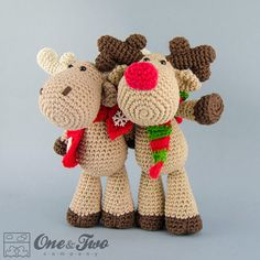 Reindeer and Moose amigurumi pattern by One and Two Company