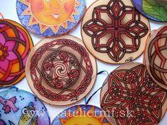 Hodvábne vitrážky, Hand painted silk