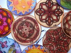 Hodvábne vitrážky, Hand painted silk Painted Silk, Hand Painted, Silk Painting, Tableware, Dinnerware, Dishes, Place Settings