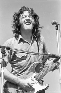 """Rory Gallagher's """"guitar string under the fingernail"""" face."""