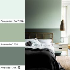 Ambleside was found at Hill Top Farm, the home of Beatrix Potter. This attractive dark green was used to complement a William Morris… Dulux Paint Colours, Green Paint Colors, Bedroom Paint Colors, Bedroom Color Schemes, Interior Paint Colors, Paint Colors For Home, House Colors, Peinture Little Greene, Little Greene Paint