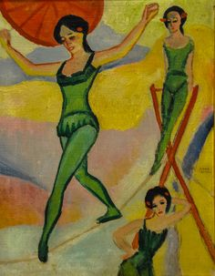August Macke - Tight-rope Walkers, 1910 at Kunstmuseum Bonn Germany