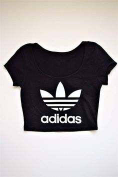 36fcd06b75e Classic Adidas logo Cap sleeve crop top Perfect for concerts, dance teams,  festivals Wholesale available (Please email) Custom colors/orders available  ...