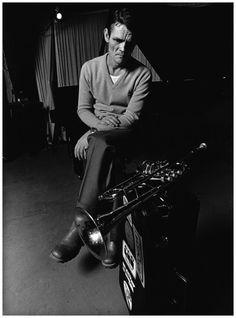 "the-night-picture-collector: "" Jorgen Bo, Chet Baker in Copenhagen, Denmark, 1978 "" Jazz Artists, Jazz Musicians, Music Artists, Art Music, William Claxton, Miles Davis, Jazz Trumpet, Jazz Players, Chet Baker"