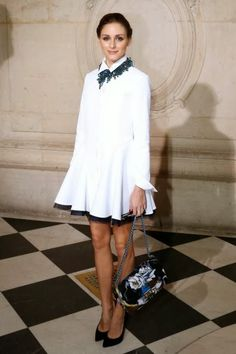 Paris Fashion Week 2014 : Olivia Palermo At Dior