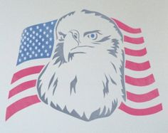 ON SALE American Flags & Eagle Stencil by StencilsLabNY on Etsy