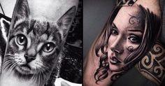 Realismo Preto e Cinza Em 17 Tatuagens Sensacionais
