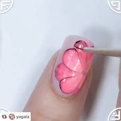 - Creative nail art using thermo-gel By: yagala Nail Art Designs Videos, Creative Nail Designs, Nail Art Videos, Cute Nail Designs, Creative Nails, Daisy Nail Art, Floral Nail Art, Local Nail Salons, Bright Nail Art