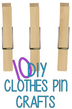 I have a ton of clothespins leftover from my wall decor, might as well do something with them! Easy Crafts, Crafts For Kids, Craft Stick Crafts, Cute Crafts, Diy Projects To Try, Crafts To Make, Craft Projects, Craft Gifts, Wood Crafts